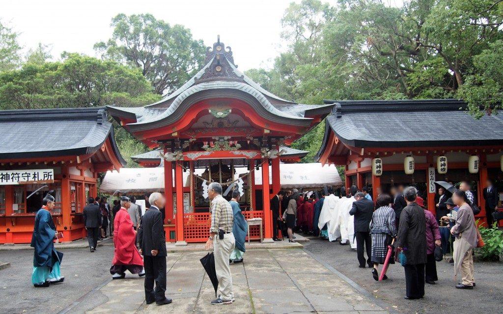 枚聞神社の例大祭