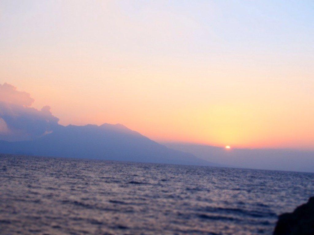 桜島の夕暮れ