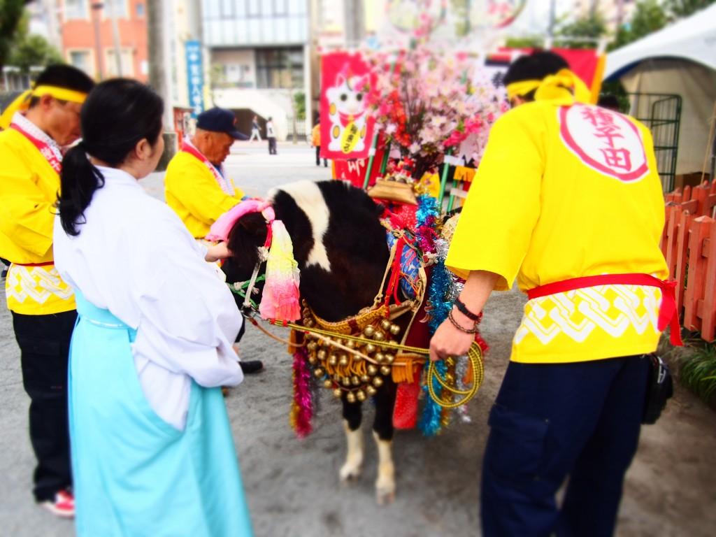 荒田八幡神社の飾り馬
