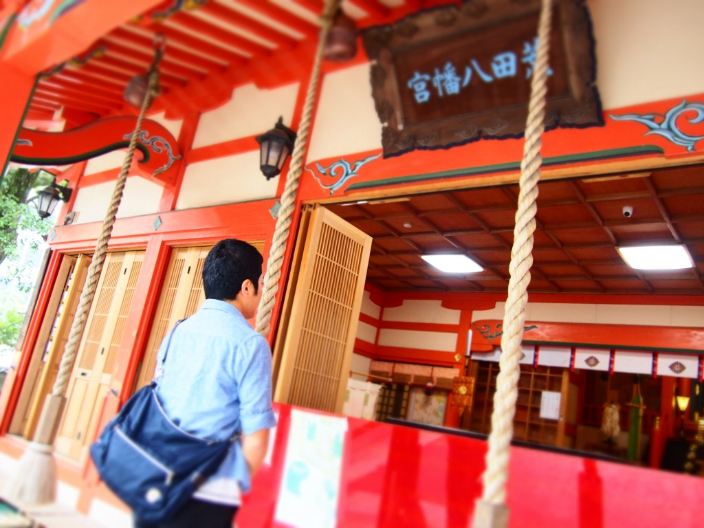 荒田八幡神社の拝殿