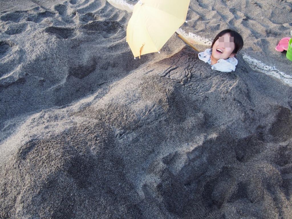 砂湯里の砂蒸し風呂