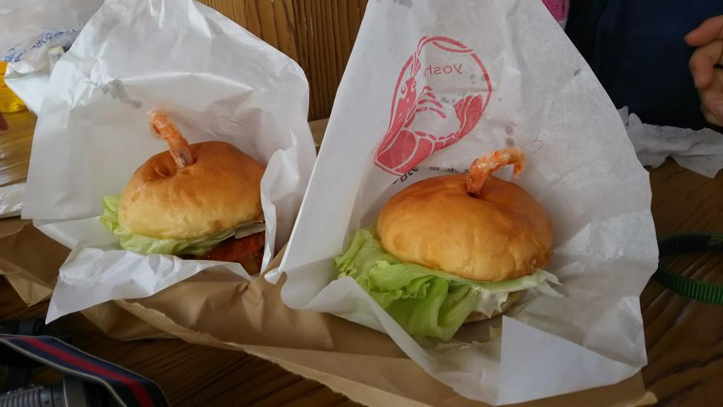 shrimp hamburgers