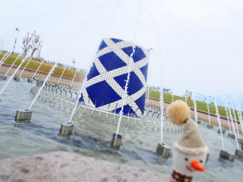 マリンポート鹿児島の噴水
