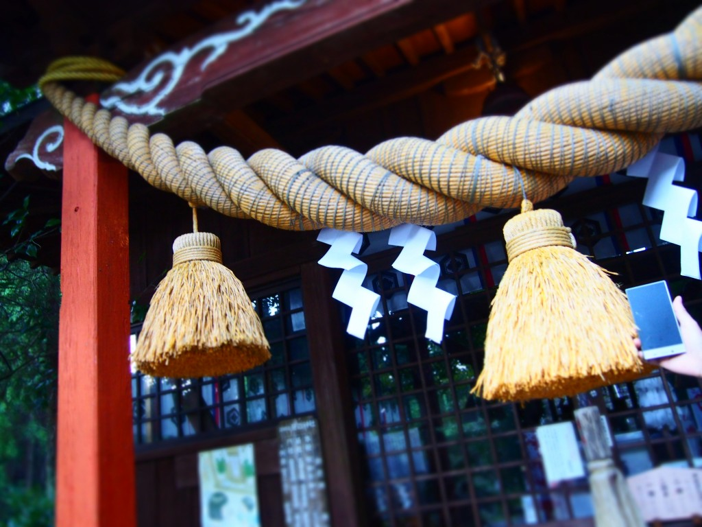 big straw decoration kanmuridake shrine