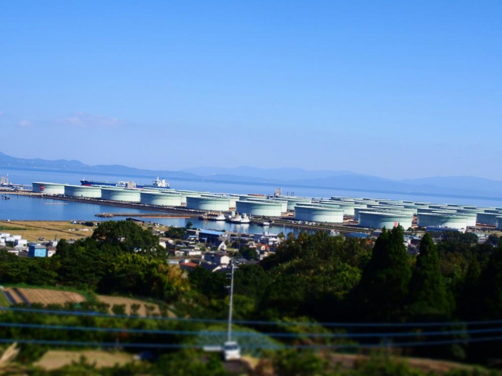 喜入 石油備蓄基地 kiire oil tank kagoshima japan