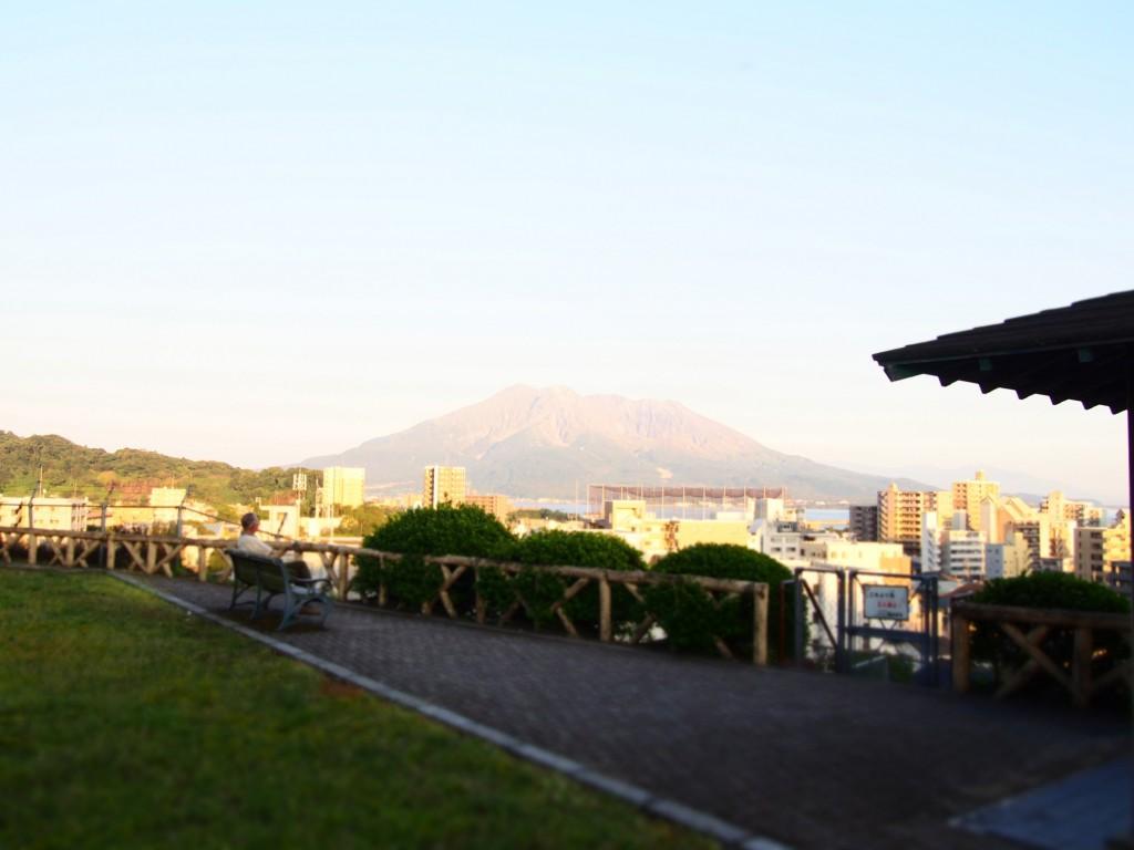 南洲公園と桜島