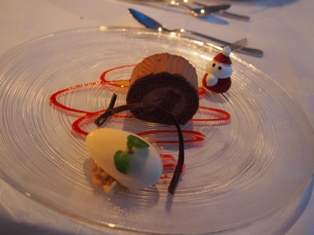 ガトーショコラとバニラアイスクリーム