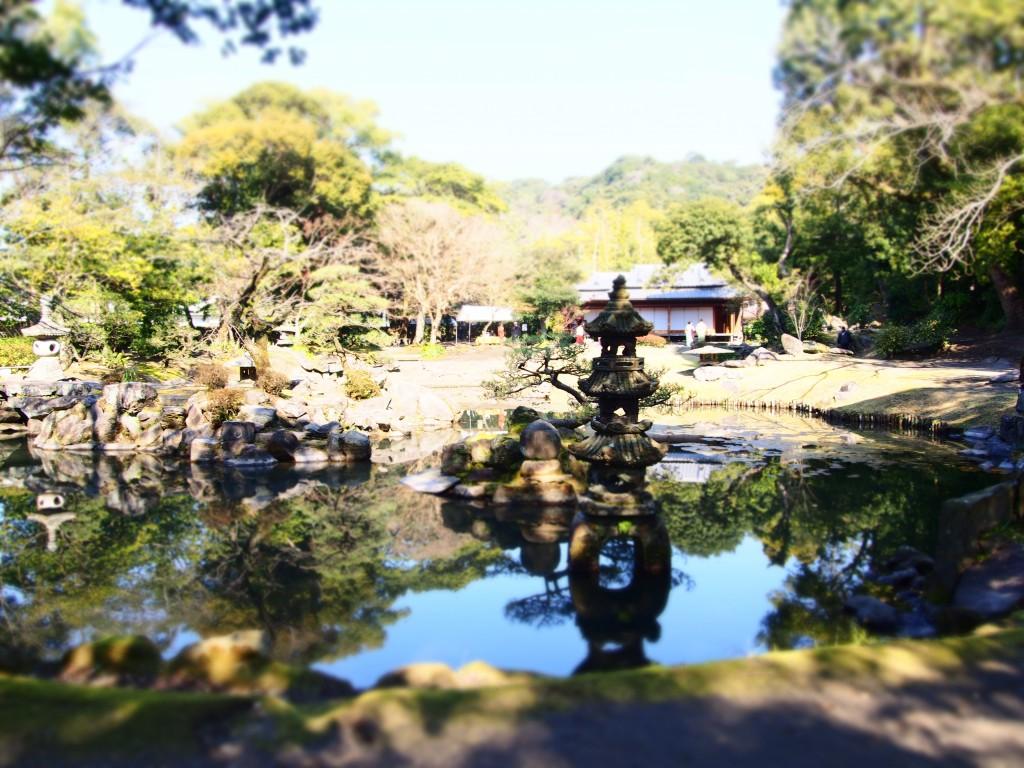 玉里邸庭園の眺め