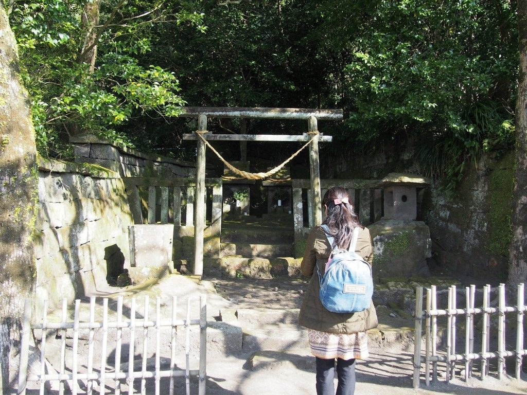 仙巌園の山神・水神