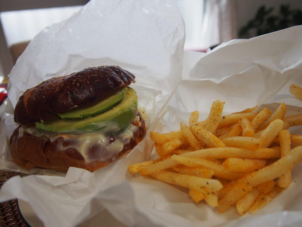 メブキのハンバーガー
