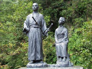 Ryoma and Oryo Statue