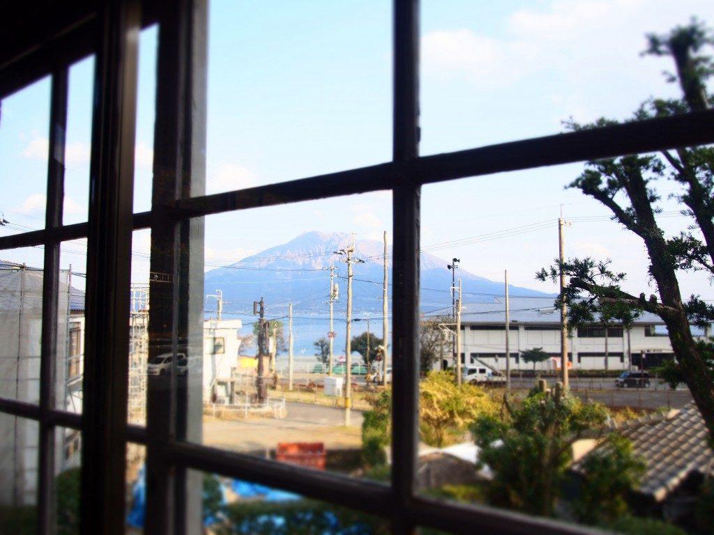 異人館から眺めた桜島