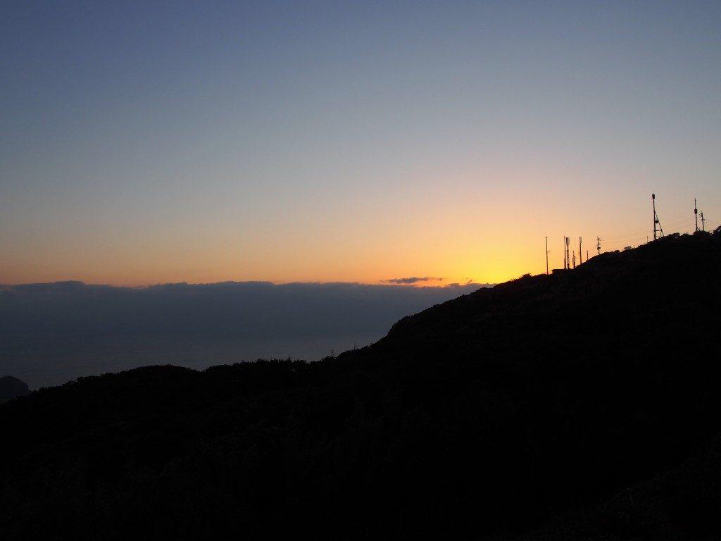 夕暮れの大野岳