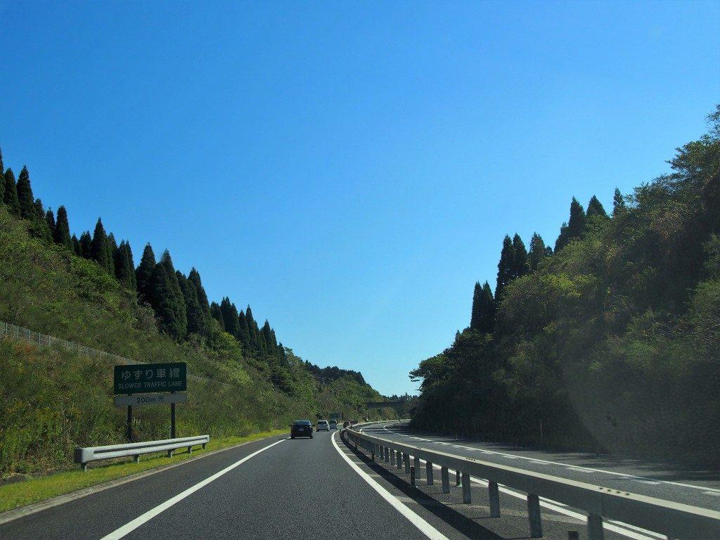 東九州自動車道の眺め
