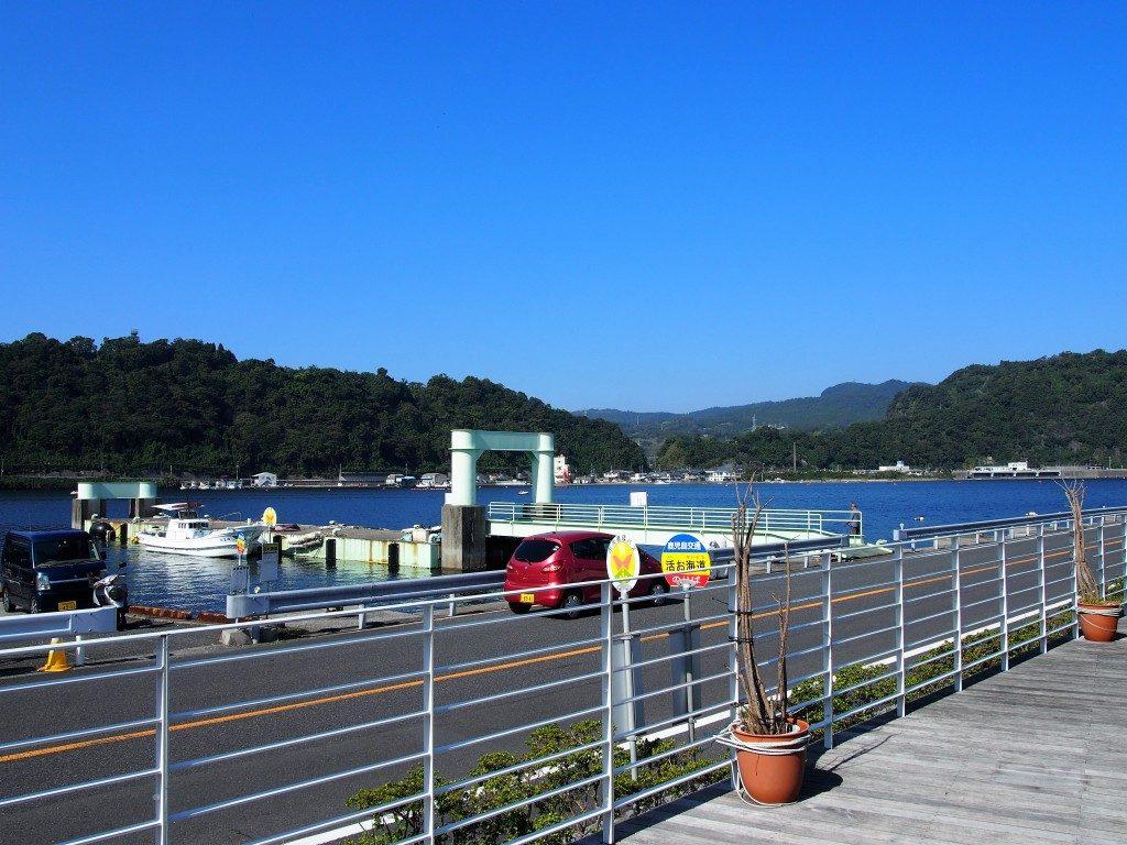 山川港の眺め