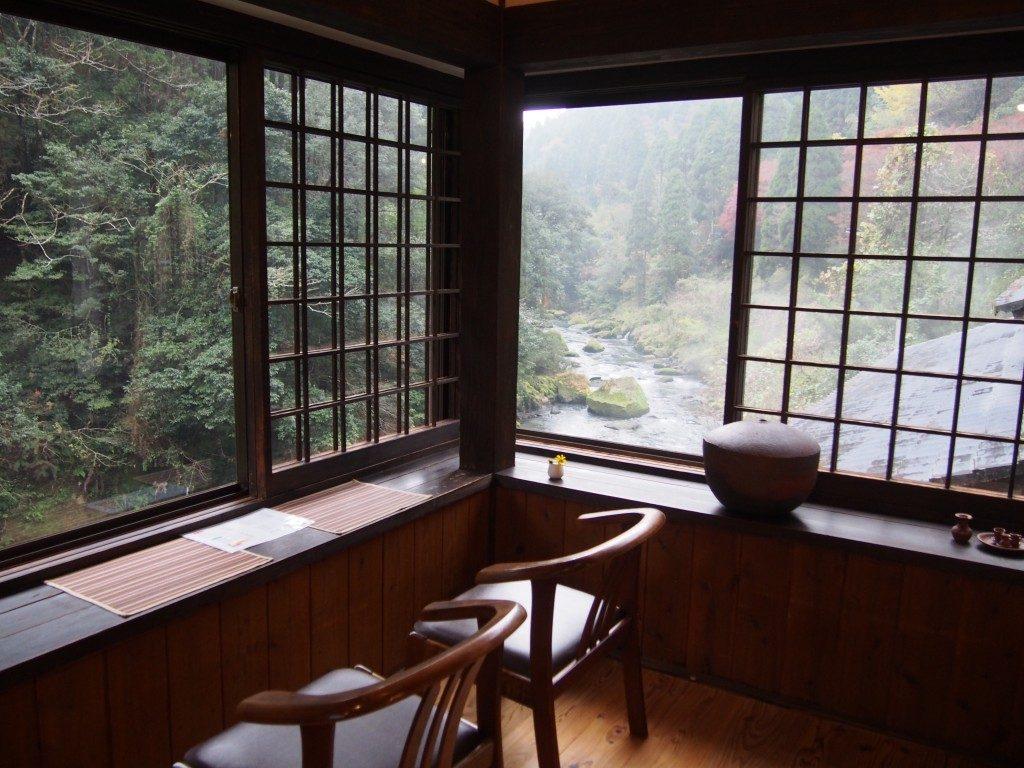 喫茶たんぽぽの上流側の眺め