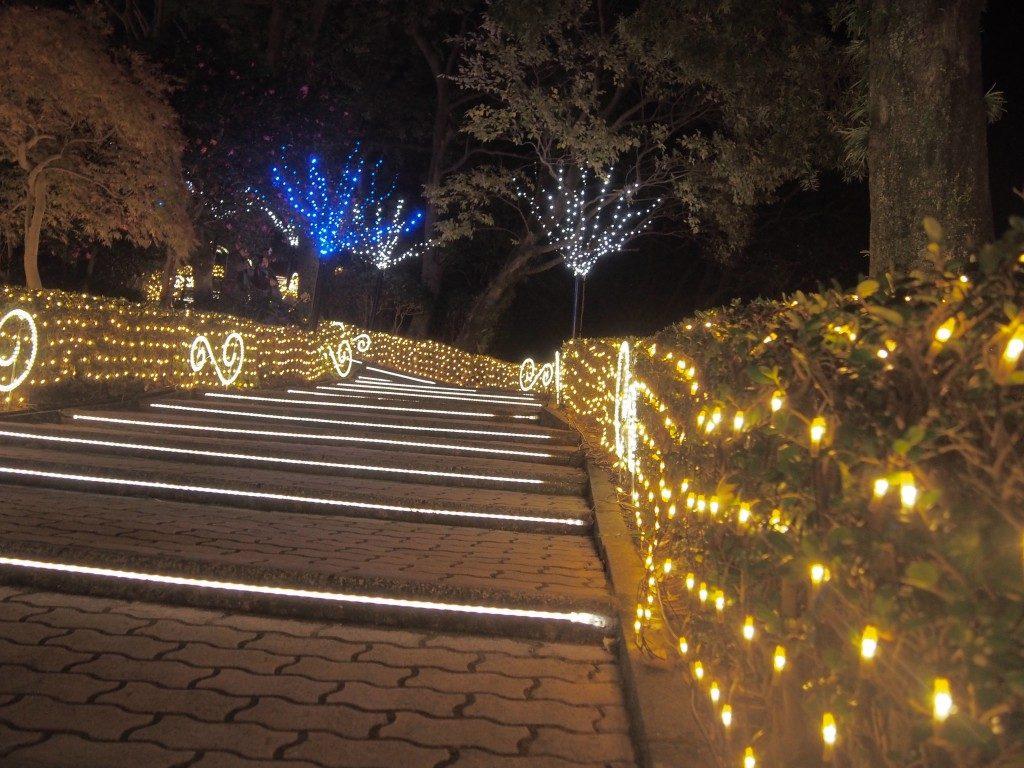 光の階段@城山観光ホテルのイルミネーション
