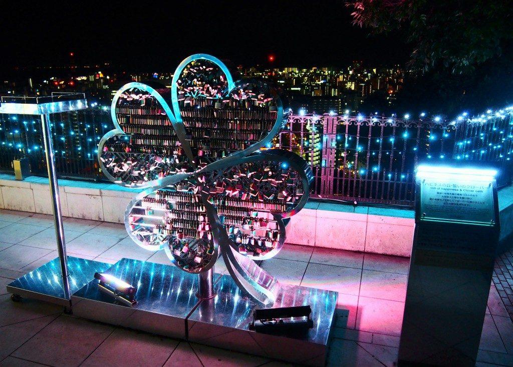 愛の錠前@城山観光ホテルのイルミネーション