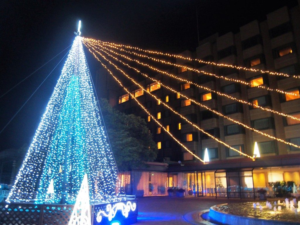 光の噴水@城山観光ホテルのイルミネーション