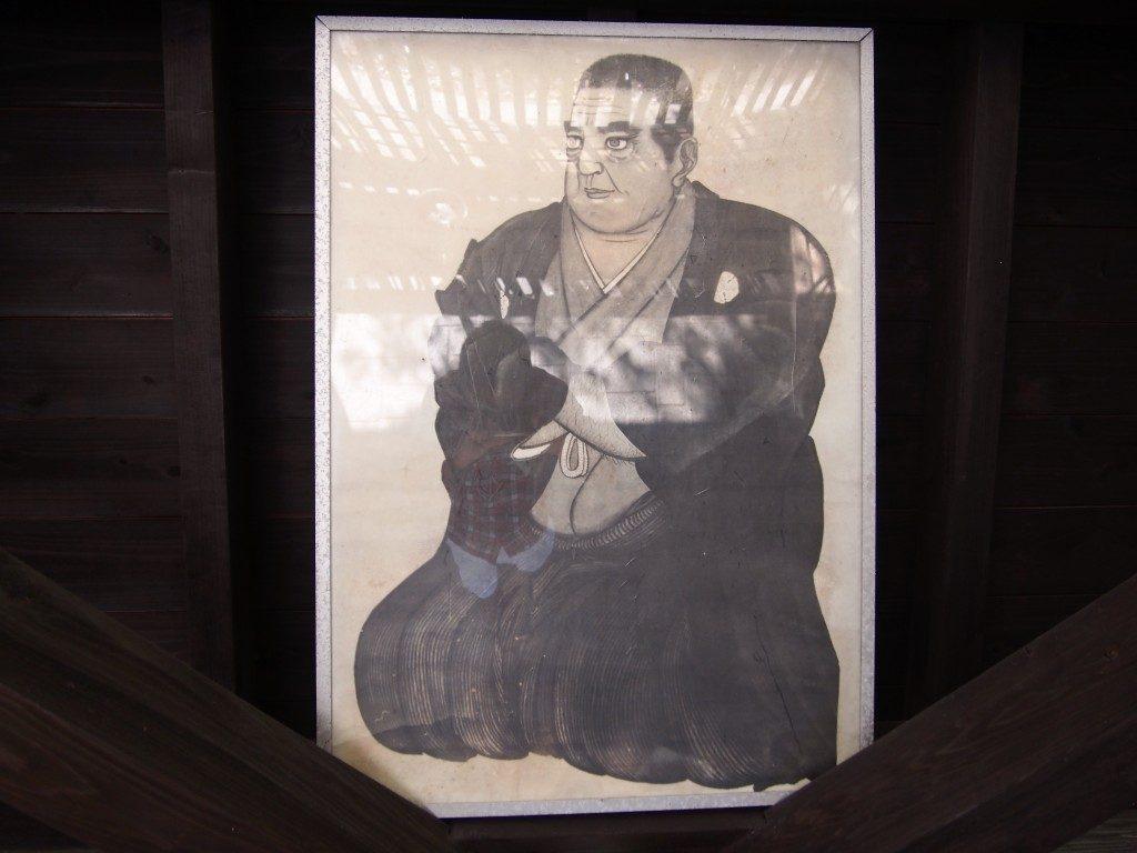 武屋敷跡の西郷隆盛の肖像画
