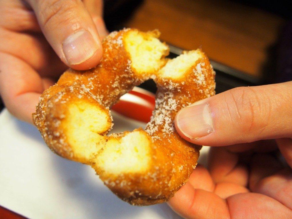 福美屋のドーナツの断面図