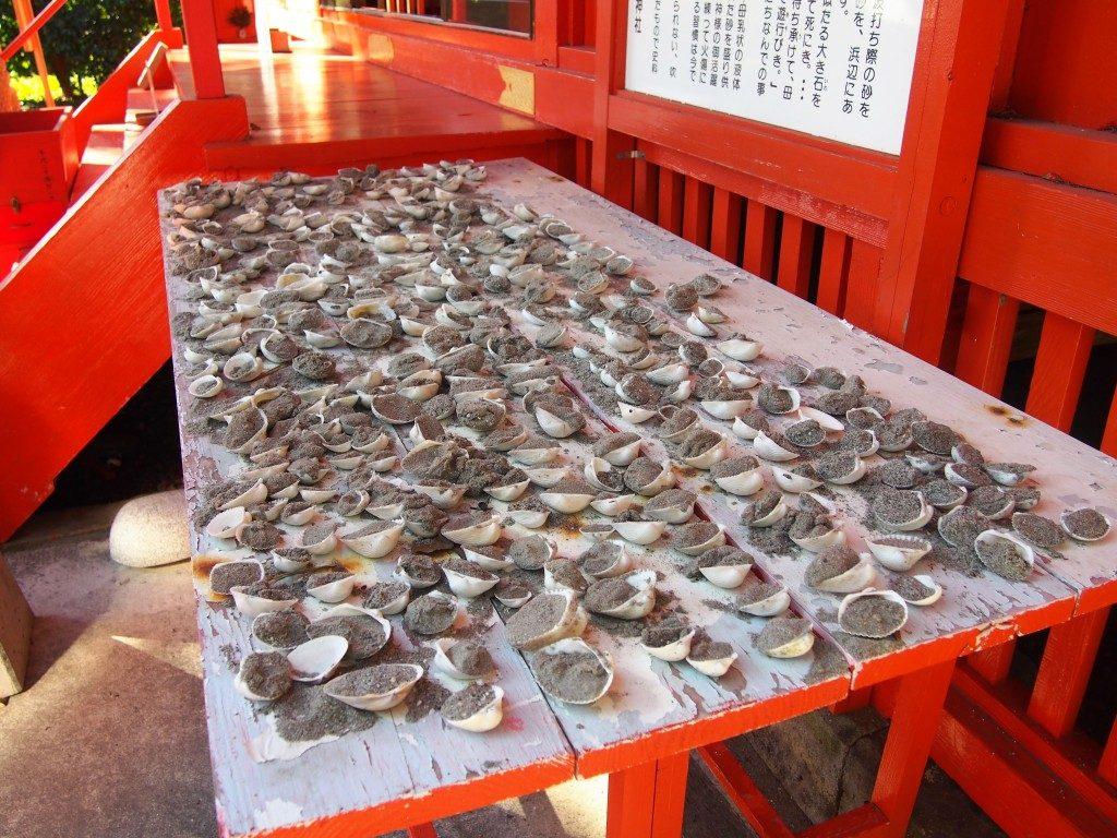 大汝牟遅神社の貝殻