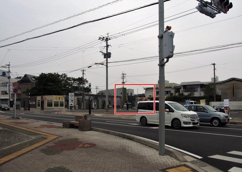 指宿市の交差点