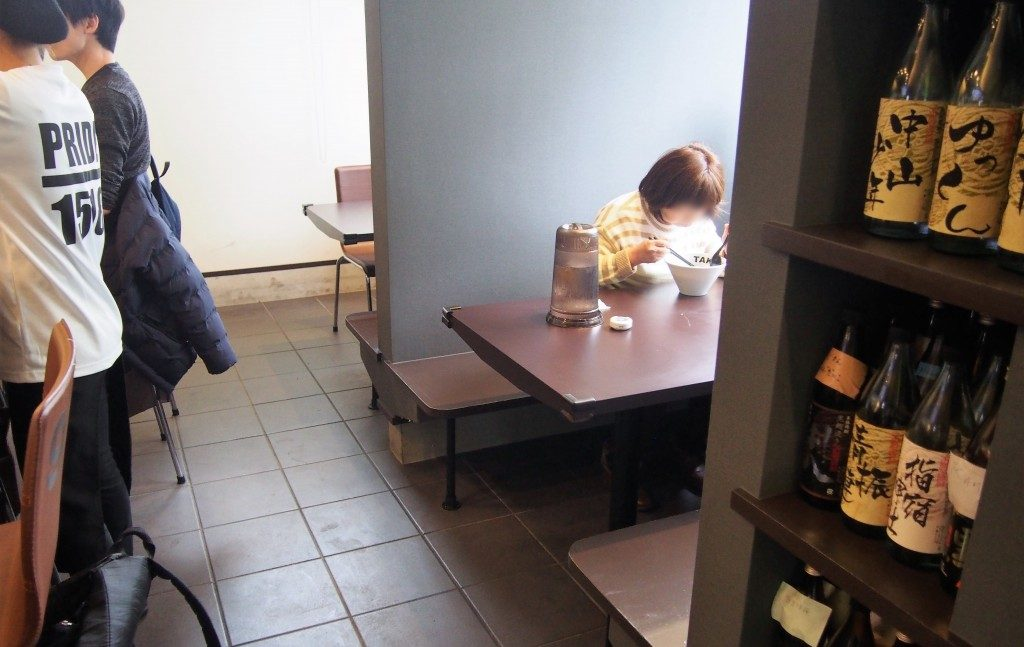 タケトラのテーブル席