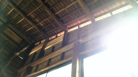 湯之谷温泉の天井