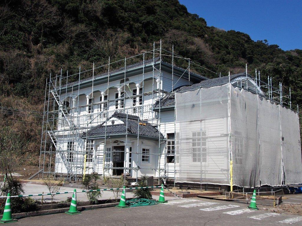 建設中の仙巌園のスタバ