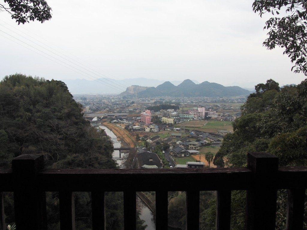 龍門滝展望所から眺めた姶良市街地