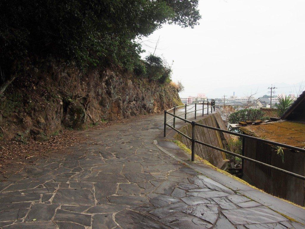 龍門滝の遊歩道