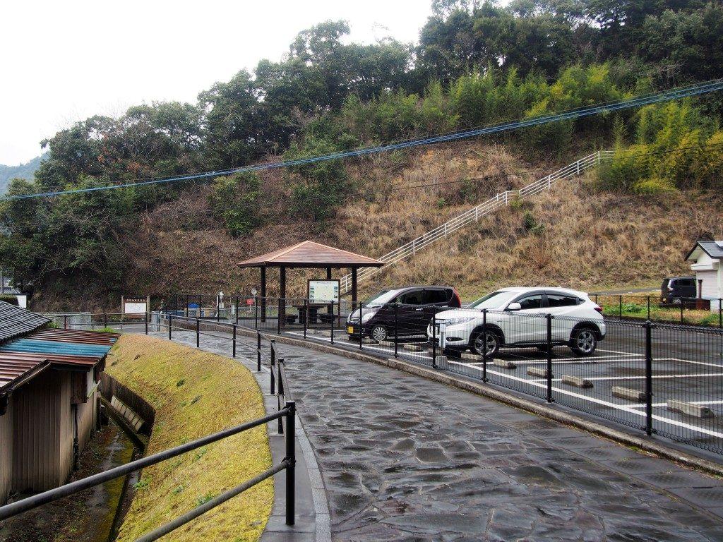 龍門司坂の駐車場