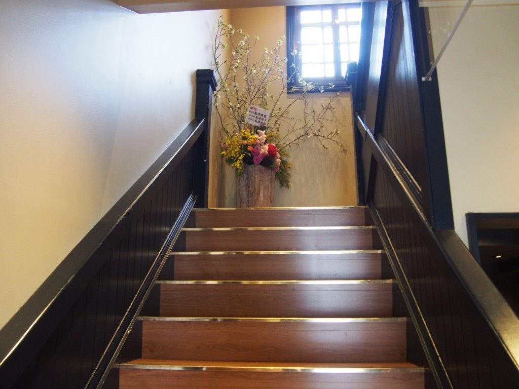 スターバックス鹿児島仙巌園店の階段