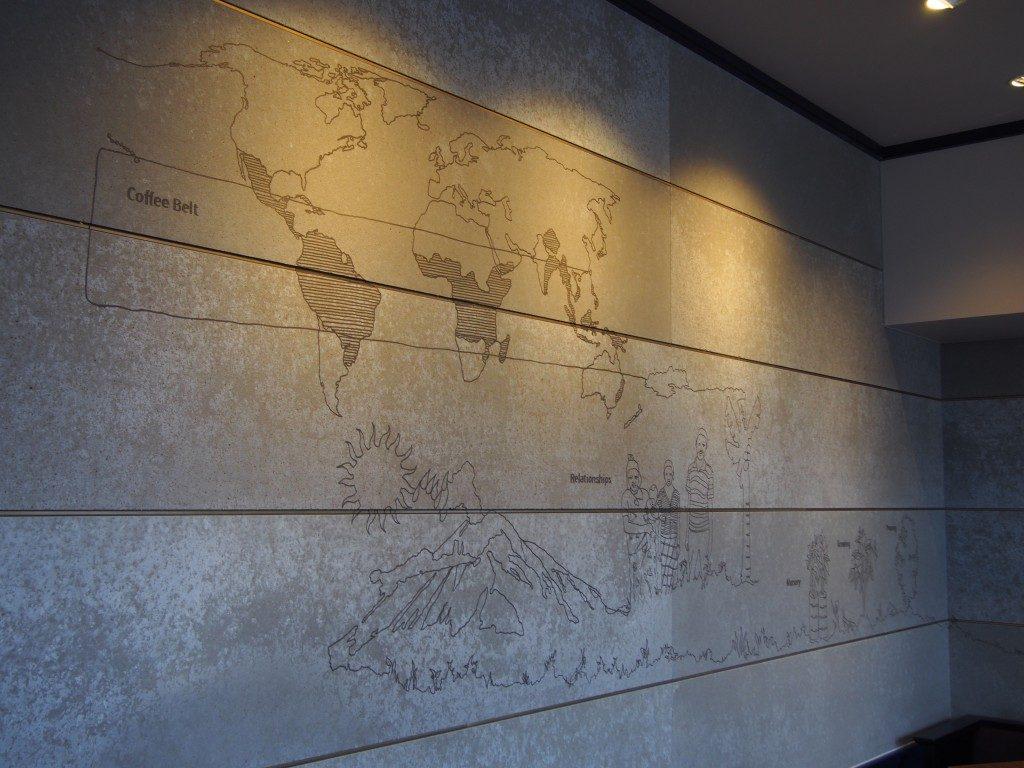 スターバックス鹿児島仙巌園店の壁面画