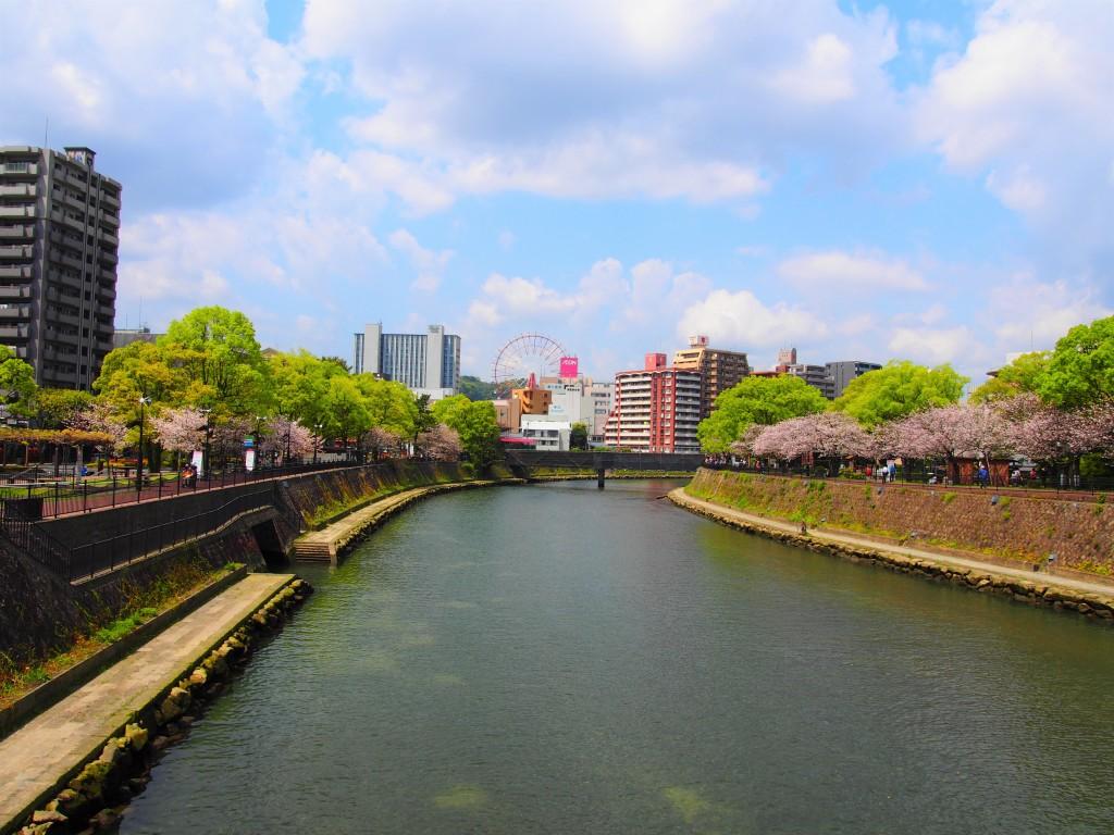 高麗橋から眺めた鹿児島中央駅