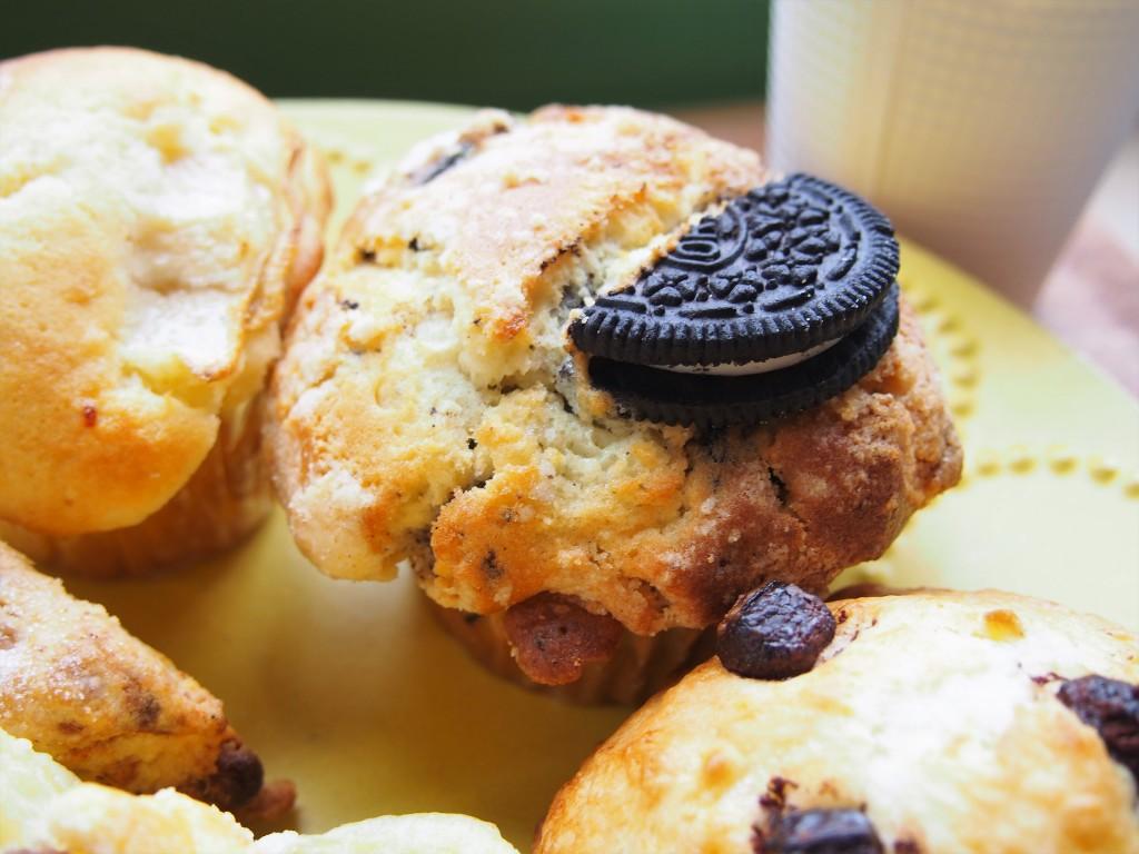 オレオクッキーのマフィン