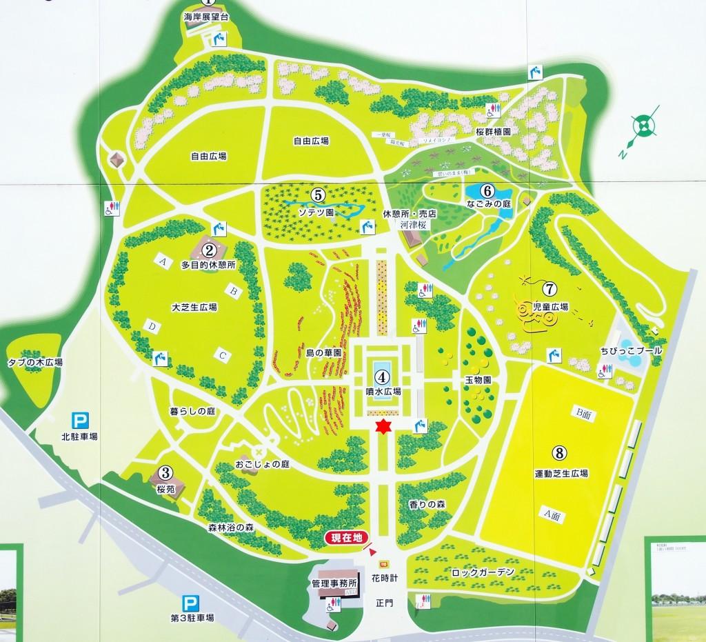 鹿児島県立吉野公園のぐりぶーの位置