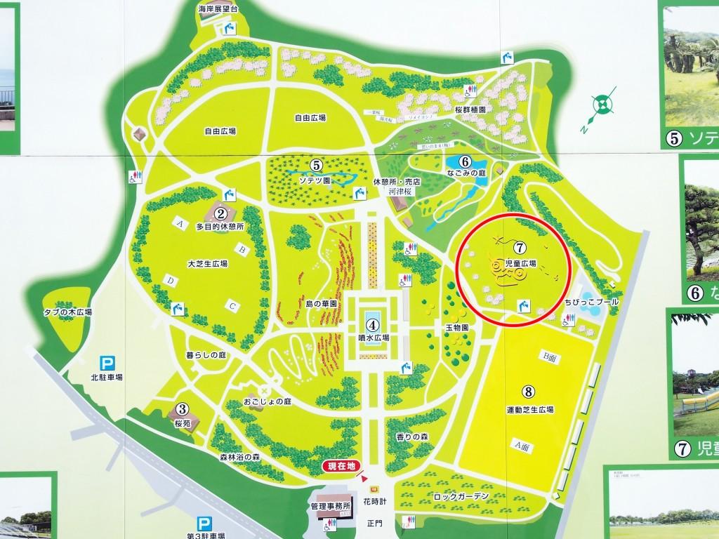 鹿児島県立吉野公園の児童広場の場所