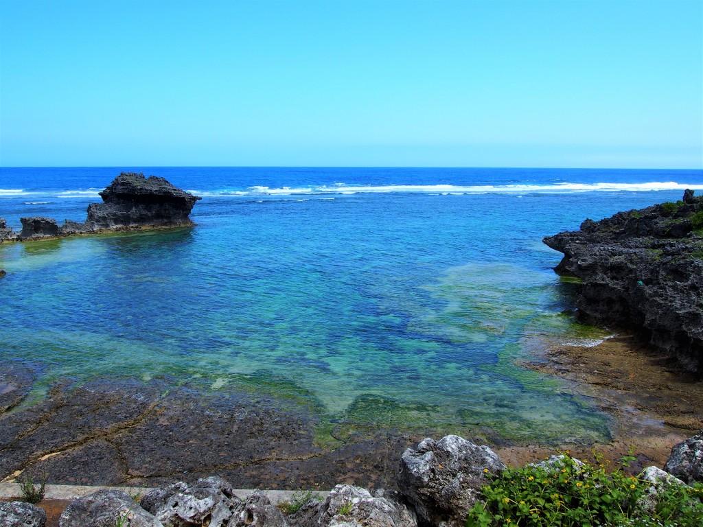 笠石海浜公園の海