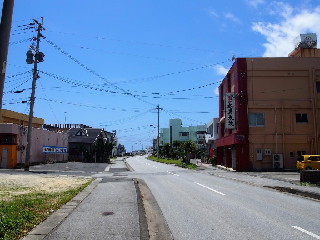 和泊町の街並み
