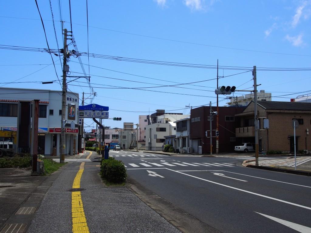 和泊町の中心街