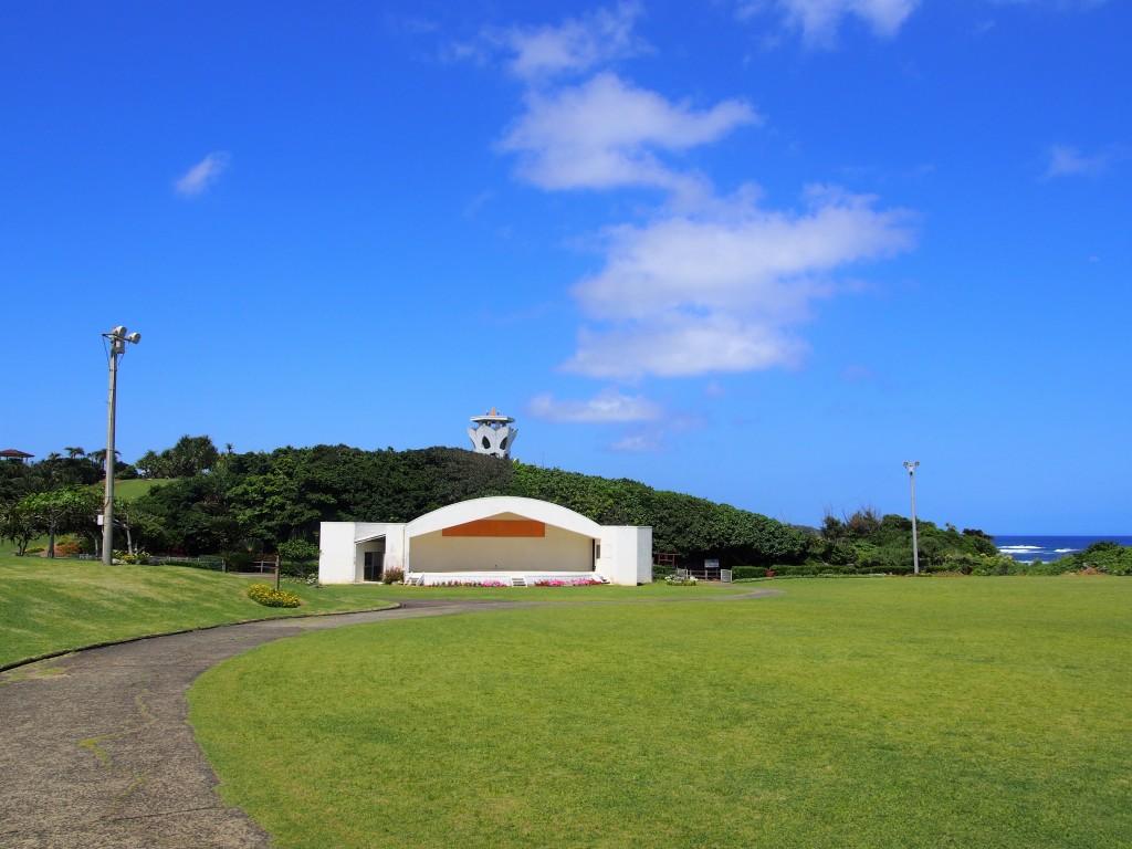笠石海浜公園の広場