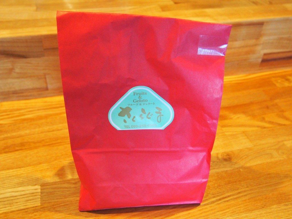 ジェラート桜島の紙袋