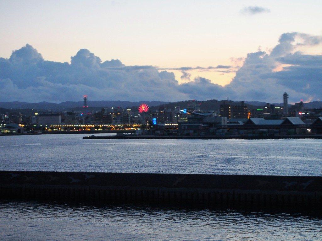 桜島納涼観光船のオープンデッキ