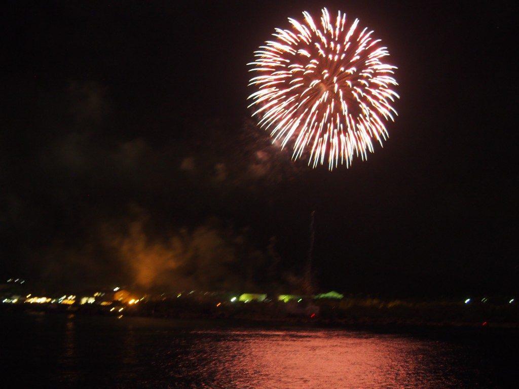 桜島納涼観光船の花火