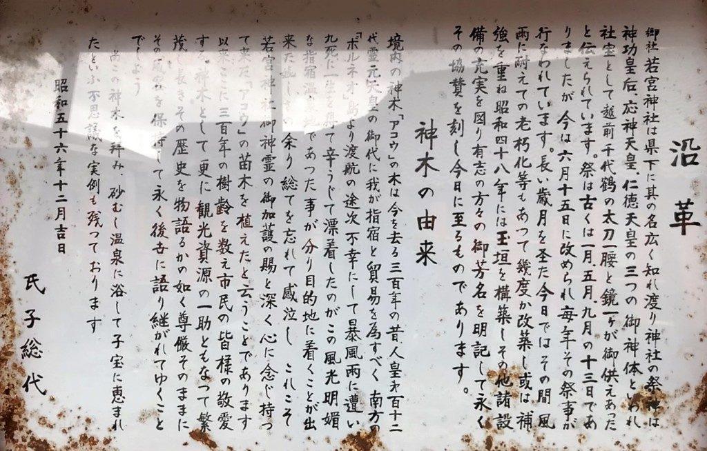 若宮神社の御由緒