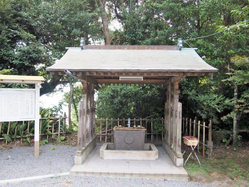 烏帽子嶽神社の手水舎