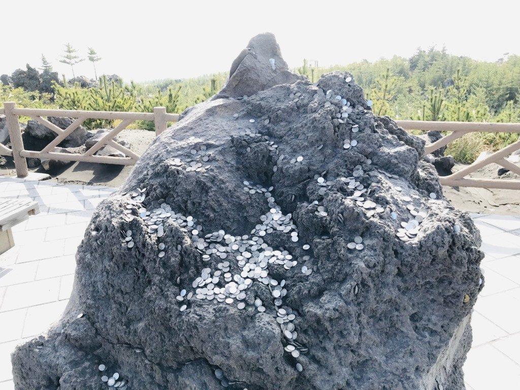 有村溶岩展望所の岩