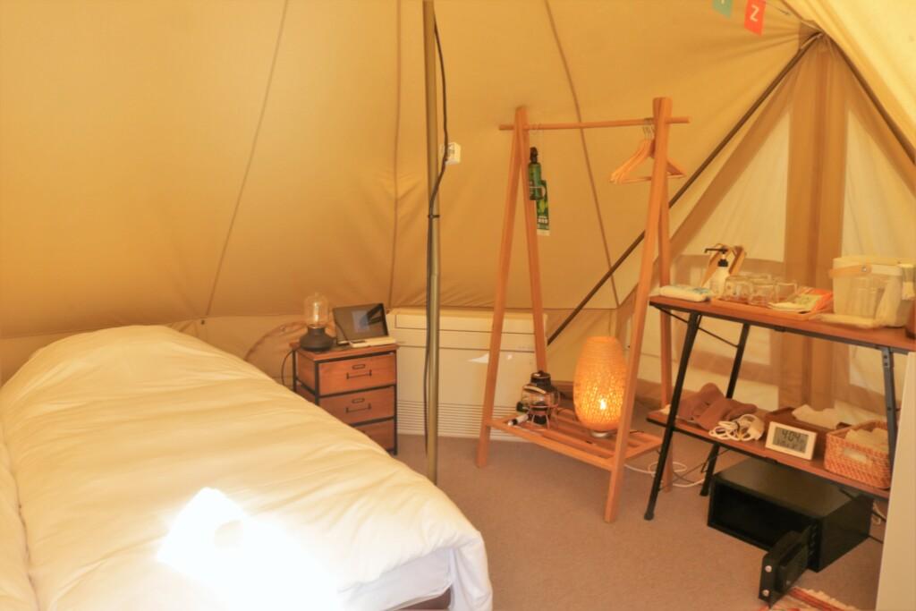 吹上浜フィールドホテルのテント